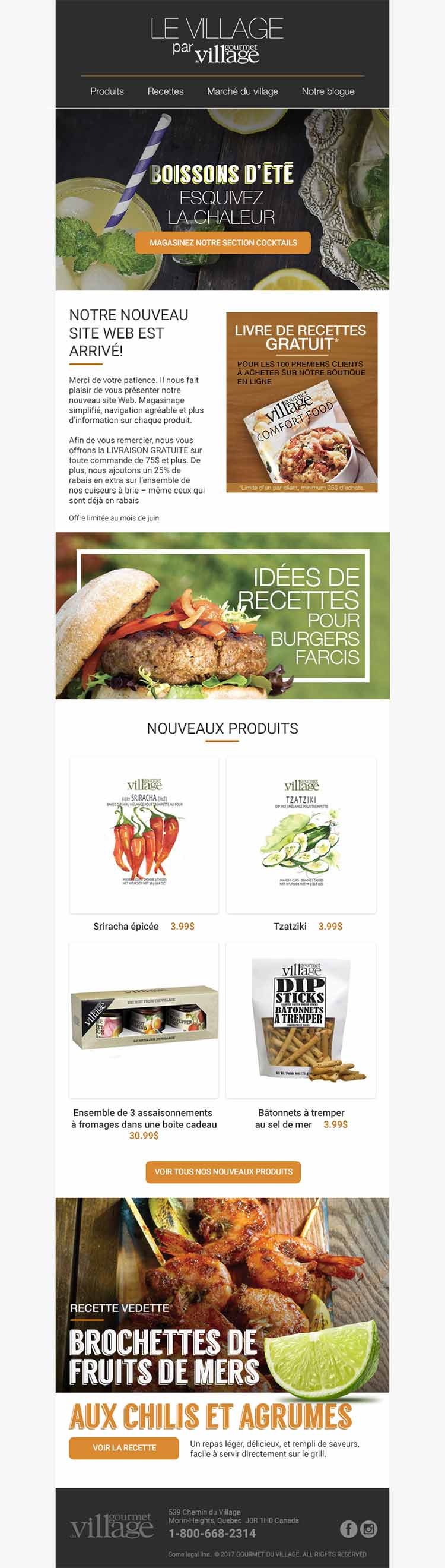 Site web e-commerce Gourmet du Village | Réalisations | King Communications