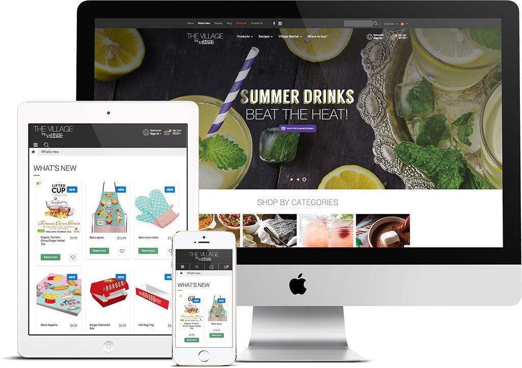 E-commerce website Gourmet du Village | Projects | King Communications