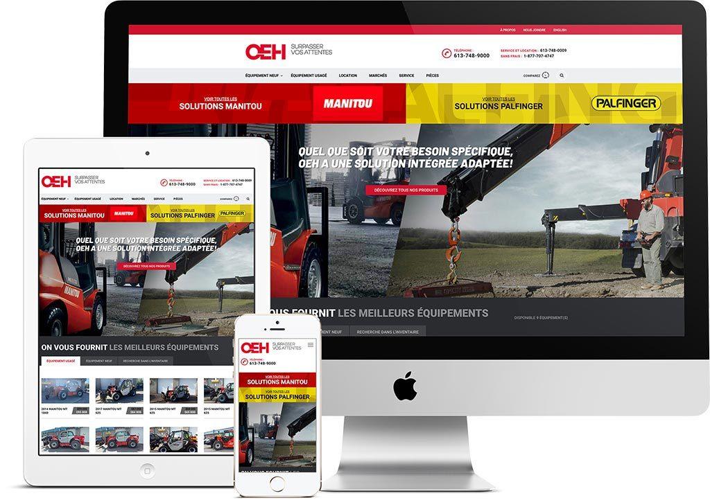 King Communications - Branding et image de marque - OEH - Site web