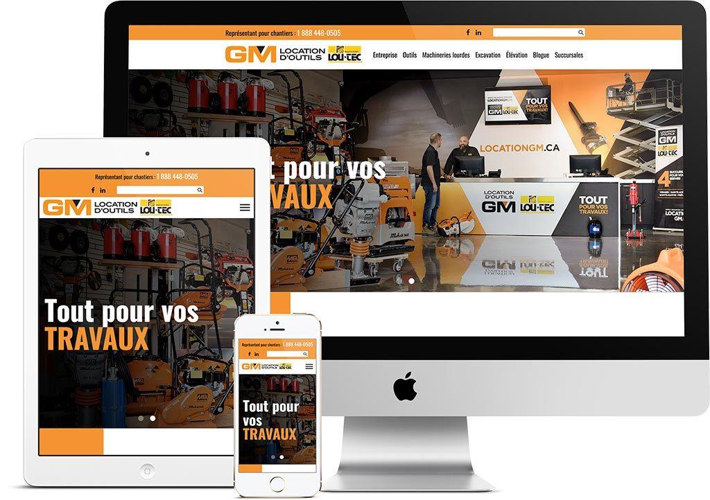 Site web Location d'outils GM | Réalisations | King Communications