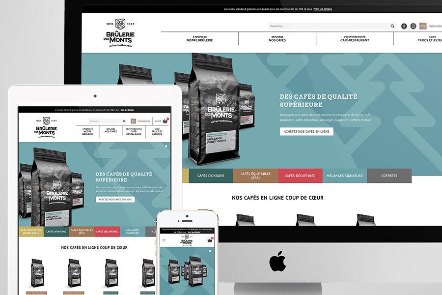 King Communications - Branding et image de marque - Brûlerie des Monts