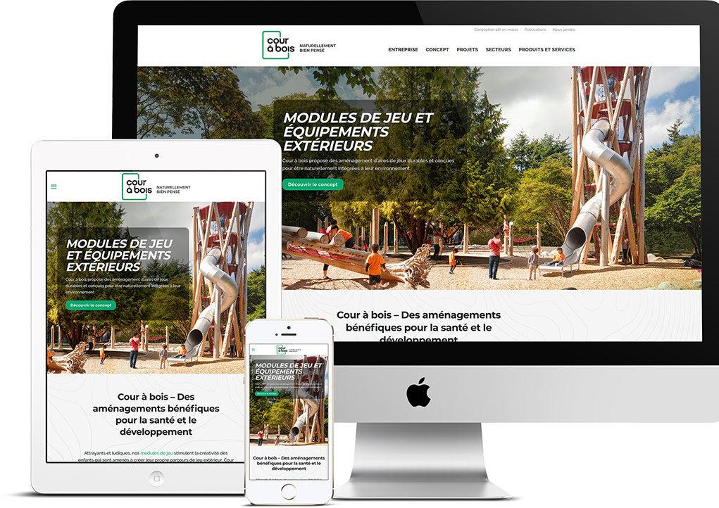 King Communications - Agence - Cour à bois