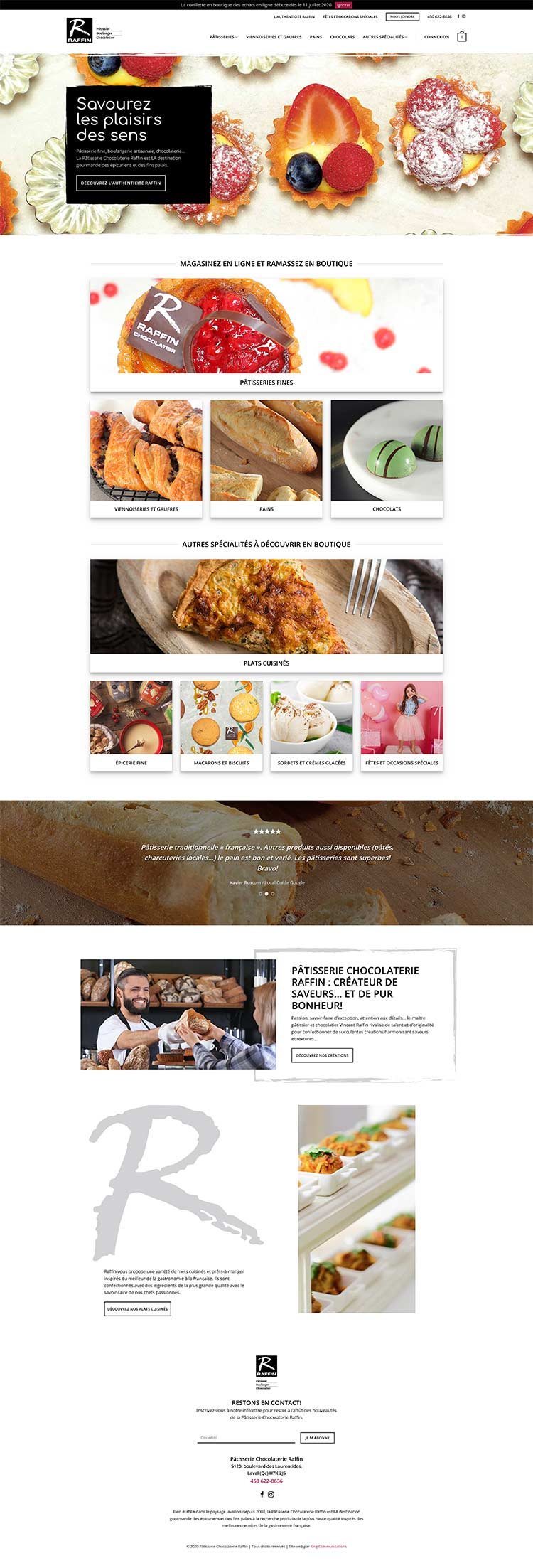 King Communications - Agence - Pâtisserie Raffin