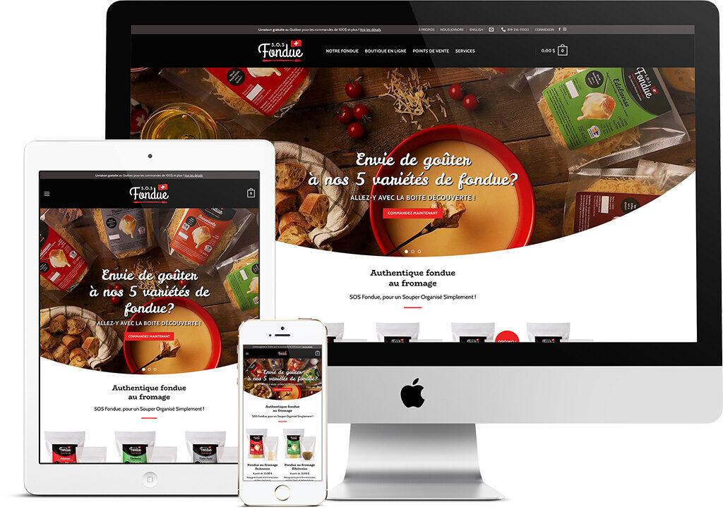 King Communications - Branding et web - SOS Fondue