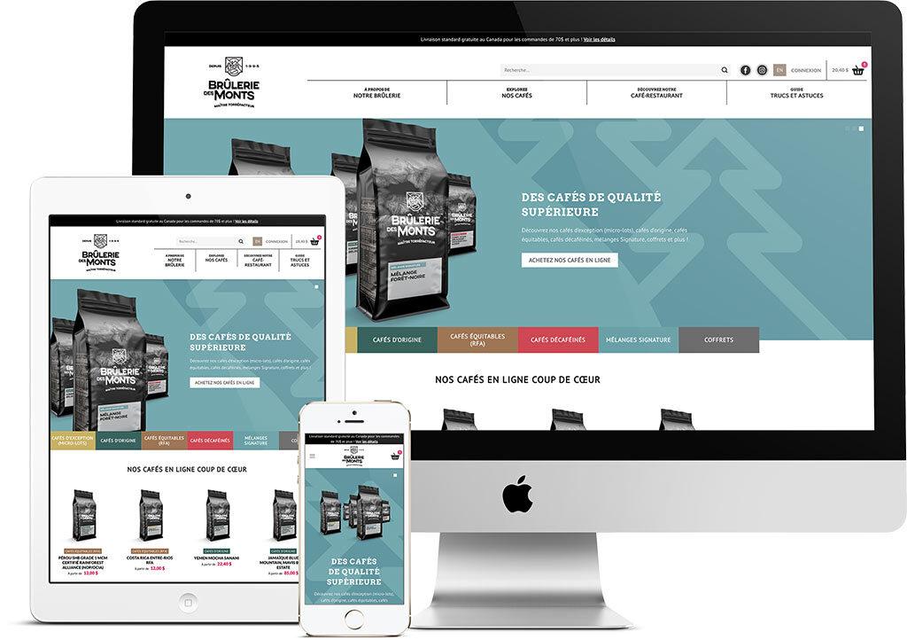 King Communications - Branding et web - Brûlerie des Monts