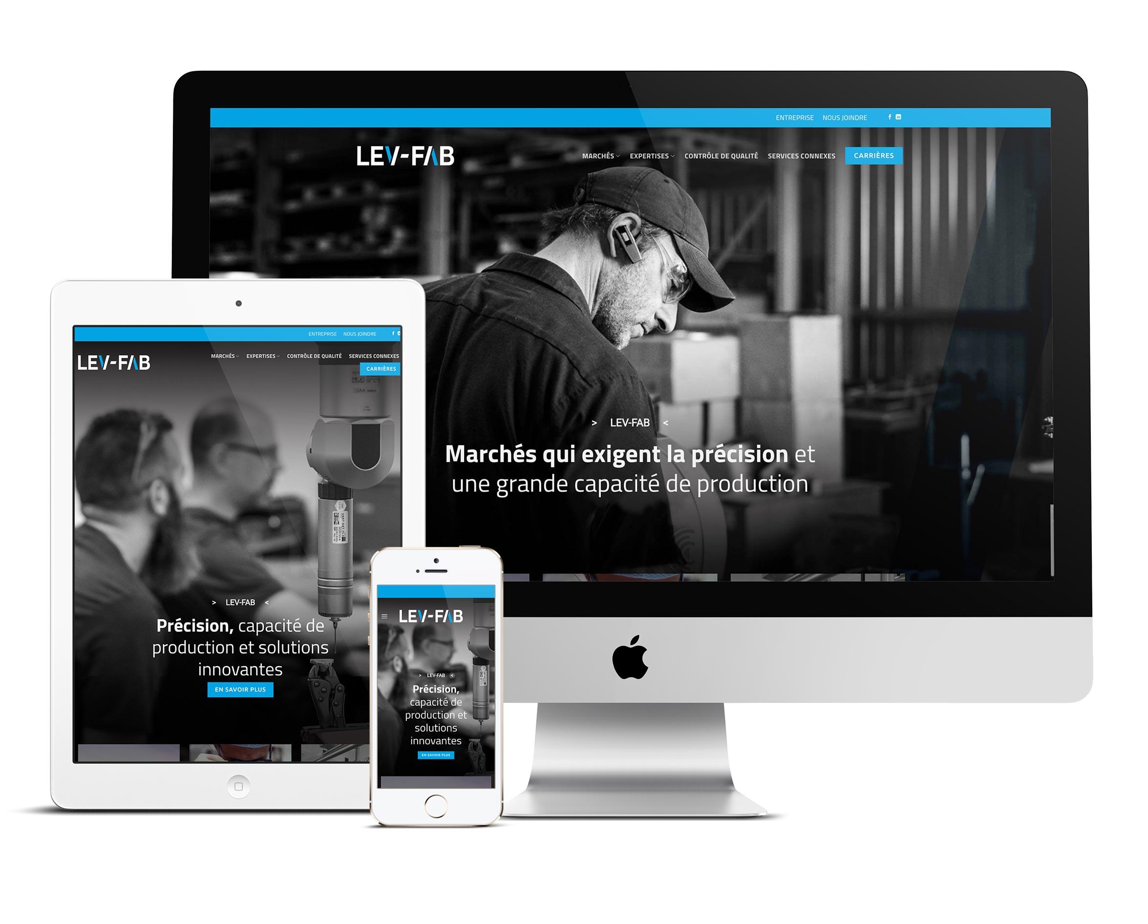 King Communications | Réalisations | Lev-FAB | Web
