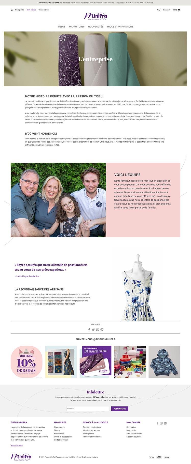 King - Réalisations - Site web - Minifra 03